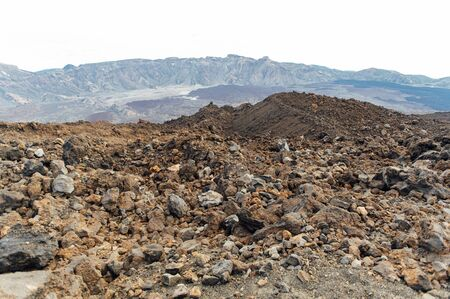 Fantastic view of the Spanish volcano Teide. Rocky volcanic view similar to the landscape of another planet - Mars