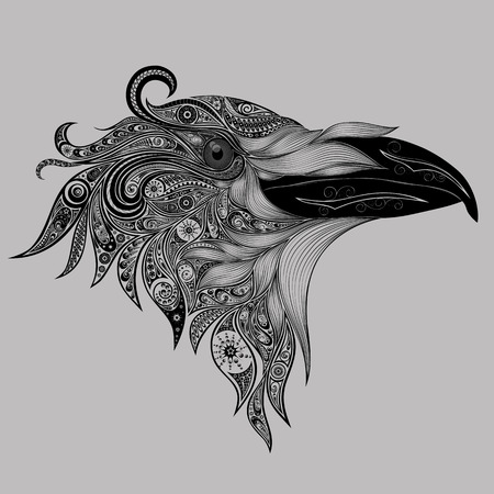 Abstract crow patterns Illustration