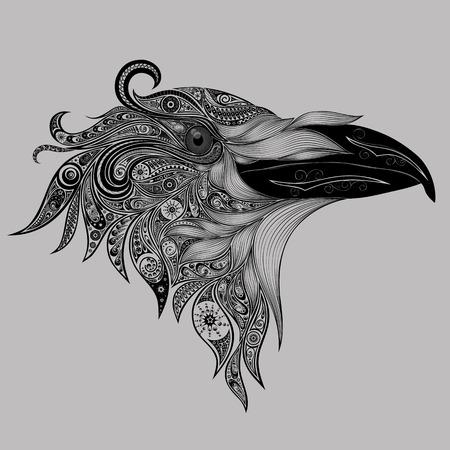 cuervo: patrones abstractos gallo Vectores