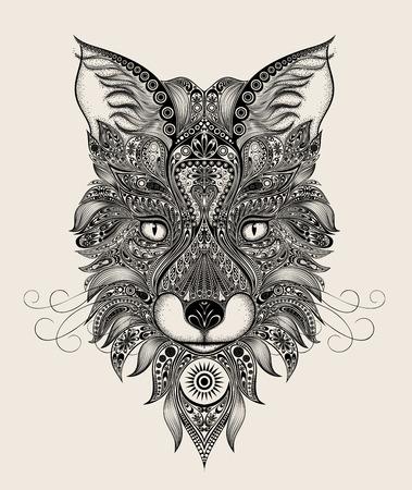 arab beast: Abstract vector Fox pattern