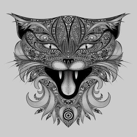 patrones abstractos gato
