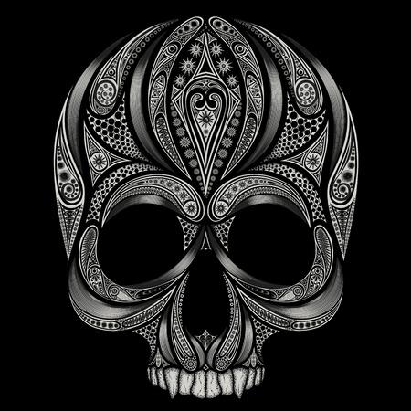 Vector skull of the vampire of abstract patterns Illustration