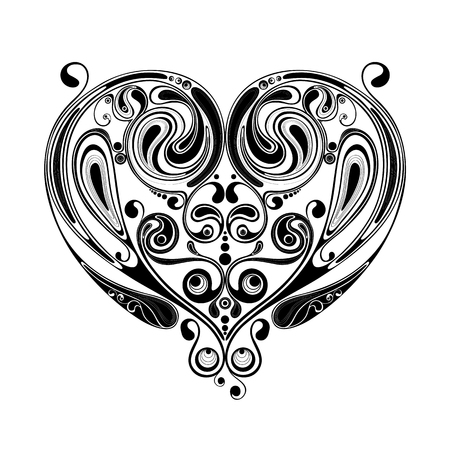 dcor: Abstract vector heart patterns for Valentines Day