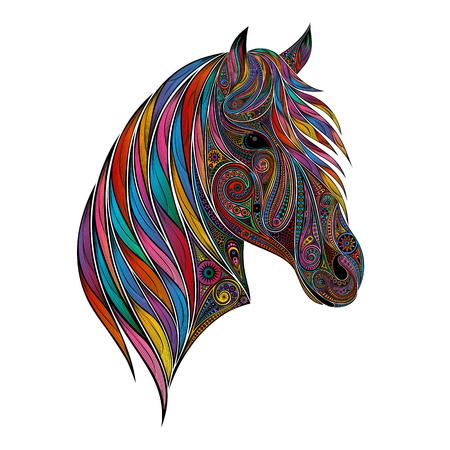 Kleur vector paard van mooie patronen