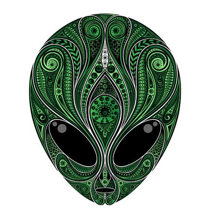 Abstract vector green alien pattern