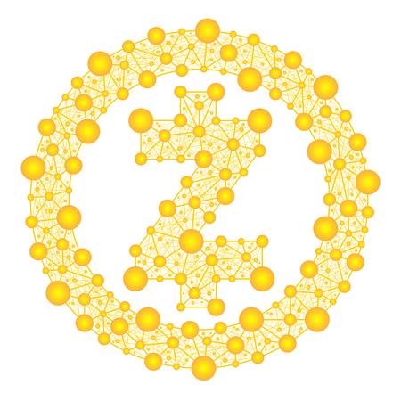 Een gouden symbool van het web.