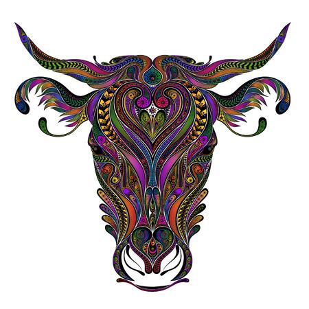 Vector gekleurde koe van patronen