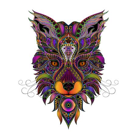 Kleur vectorvos van mooie patronen