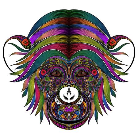 Vector gekleurde aap van patronen