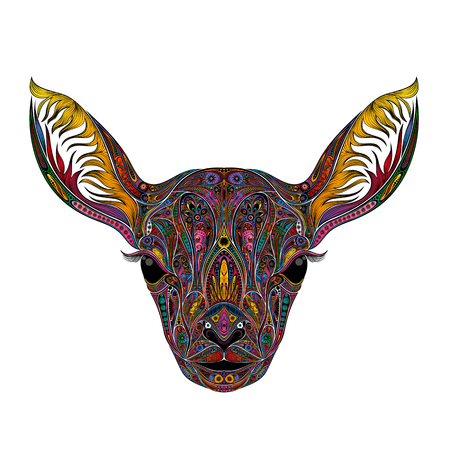 Colored vector deer without horns.