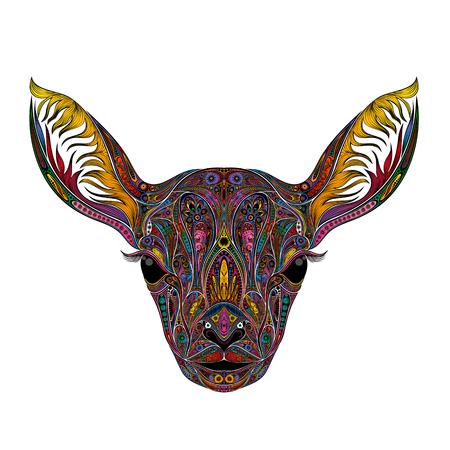 Gekleurde vector herten zonder hoorns.
