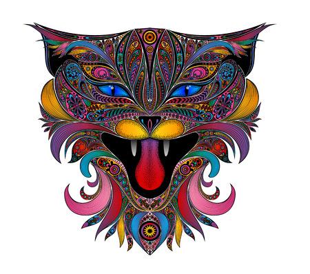 Beautiful color vector cat