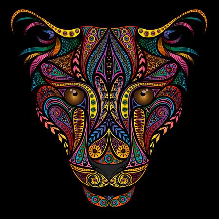 Kolorowa lampart z pięknymi różnymi wzorami