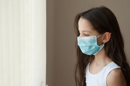 girl kid epidemic flu medicine child medical mask
