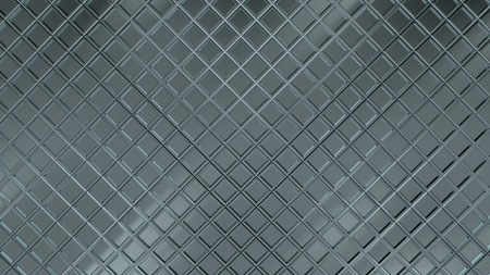Metal reflective rhombus / square steel pattern texture. 3D rendered texture. 写真素材