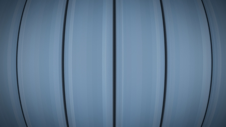 Abstract blue stripes lines tubes background with lens distortion and vignette effect. Blue metal. Render. 写真素材