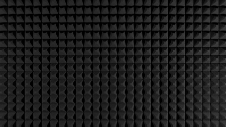 Black sound isolating foam professional background  texture.