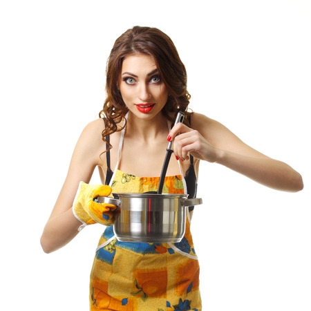 Sexy girl in apron