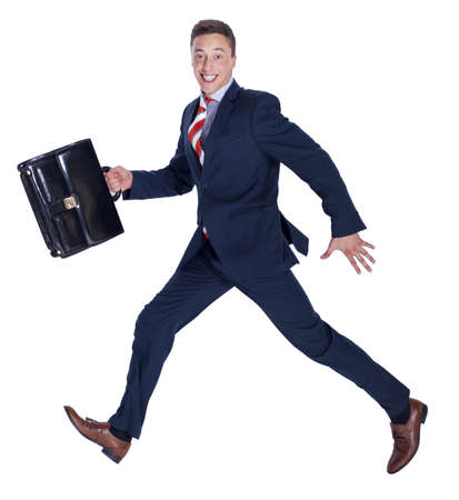 work shoes: Running manager with a briefcase