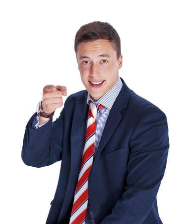 poking: Poking manager Stock Photo