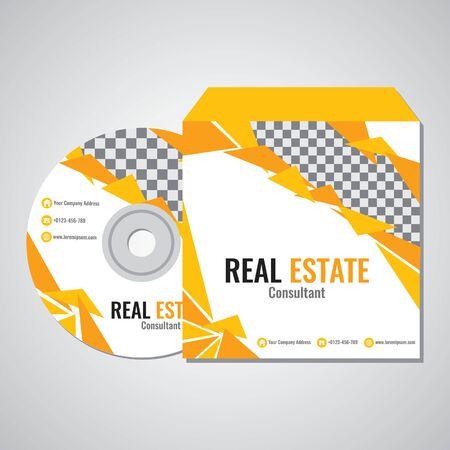 Real estate business CD promotion illustration