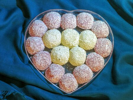 Iranian candy and Sweets in the form of a heart. Iranian culture