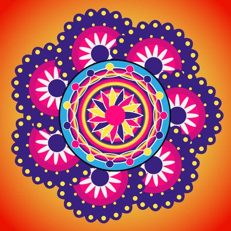 rangoli: Rangoli design. Indian ornament.