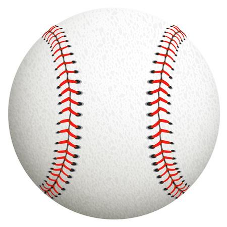 grand hard: White baseball ball on a white background. Illustration