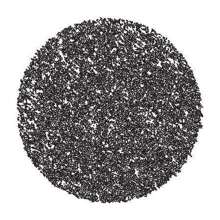microorganisms: Microorganisms under a microscope. The black dots on a white background. Illustration