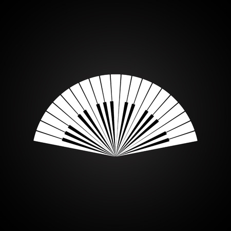 isolates: Piano keys in the form of a fan. Illustration
