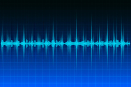 frequency modulation: Abstract background audio or sound wave image. Illustration
