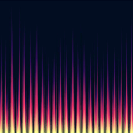 Bright shiny music equalizer. Extraterrestrial abstract waves.