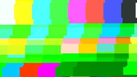 신호 TV 테스트 패턴이 없습니다. 디지털 글리치 왜곡. 벡터 일러스트 레이 션.