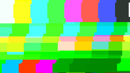 No signal TV test pattern. Digital glitch distortion. Vector illustration.