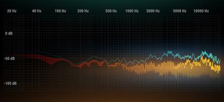 Colorful musical equalizer. Illustration