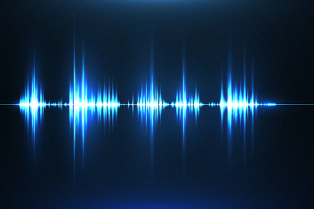 Musical equalizer. Sound wave. Radio frequence. Vector illustration. Illustration