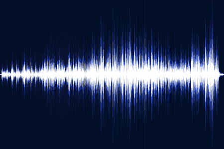 Blue musical equalizer. Sound wave. Radio frequence. Vector illustration