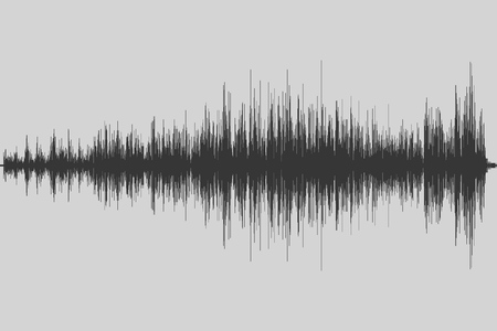 Musical equalizer. Sound wave. Radio frequence. Vector illustration. Stock Photo