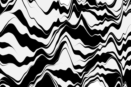 Vector striped background. Geometric background with curved lines. Motion graphics. Vector illustration