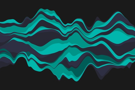 Dynamic abstract background with color waves. Vector illustration.  イラスト・ベクター素材