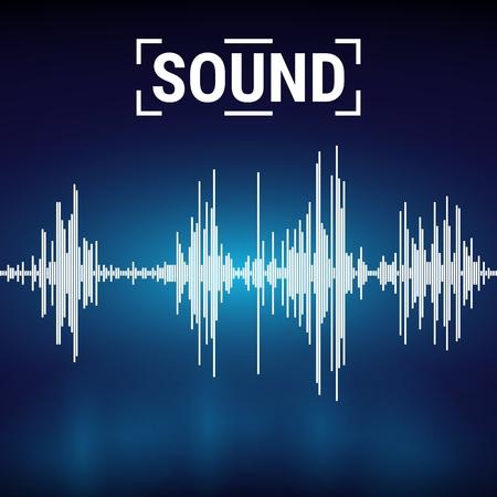 Sound waves on a dark background.