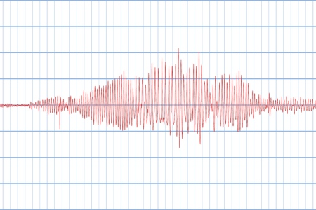 Seismogram of different seismic activity record. Seismic tremors sign  イラスト・ベクター素材