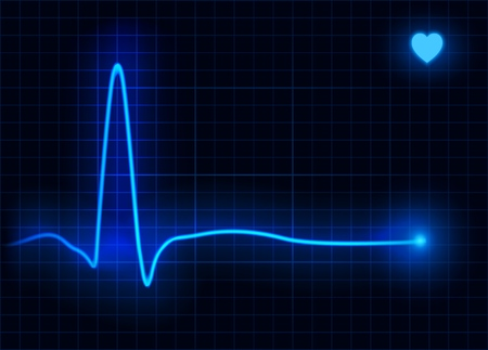 Vector illustration of heart line cardiogram. Heart pulse  イラスト・ベクター素材