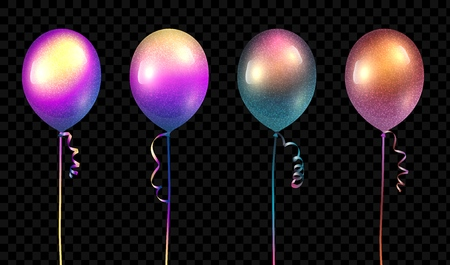 Vector realistic baloons mockup. 3D vector illustration