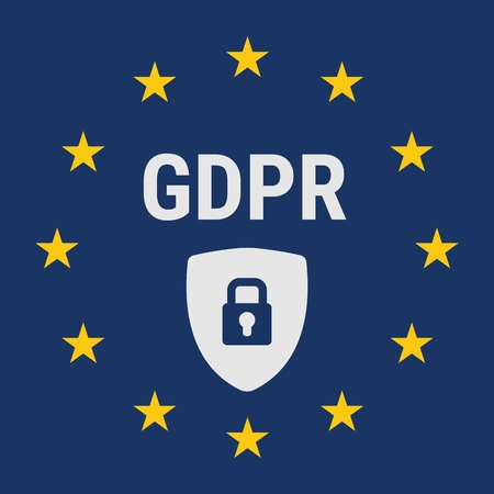 GDPR concept illustration. General Data Protection Regulation. The protection of personal data