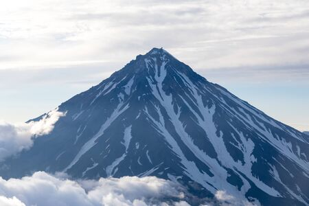 Koryaksky volcano, Kamchatka peninsula, Russia. An active volcano 35 km north of the city of Petropavlovsk-Kamchatsky. The absolute height is 3430 meters above sea level.
