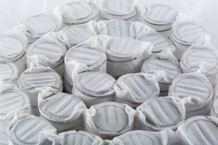 Independent mattress springs in spunbond