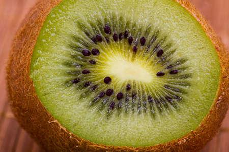 Kiwi cutaway. Food macro shot