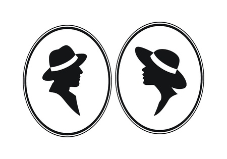 Lady and Genleman- male and female gender vector sign