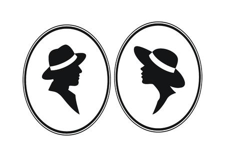 Lady und Genleman-männliche und weibliche Geschlecht Vektor-Zeichen
